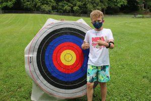 Camper with Bullseye